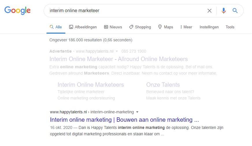 SERP-interim-online-marketeer