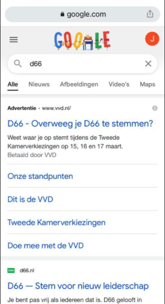 Google Trends - verkiezingen 2021
